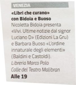 Corriere del Veneto_Agenda 29 05 2015