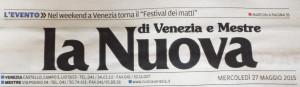 La Nuova Venezia 27 05 2015 prima pag